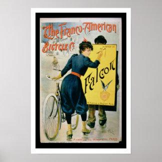 Publicidad de poster la bicicleta Franco-American
