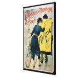 Publicidad de poster 'la bicicleta Franco-American Impresión De Lienzo