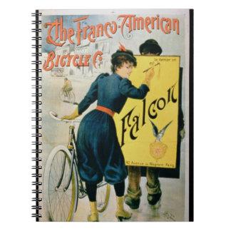 Publicidad de poster la bicicleta Franco-American Cuaderno