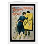 Publicidad de poster 'la bicicleta Franco-American Tarjeta De Felicitación