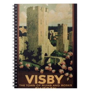 Publicidad de poster la ciudad de Visby Suecia c Libros De Apuntes Con Espiral