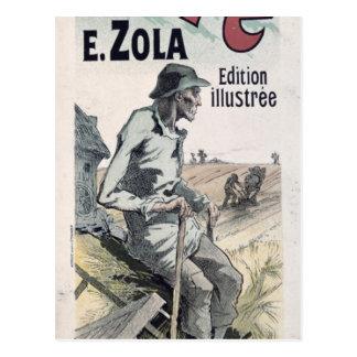 """Publicidad de poster """"La Terre"""" por Emile Zola, Postal"""