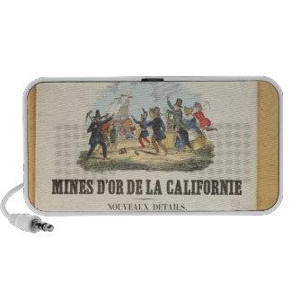 Publicidad de poster las minas de oro en Californi Altavoz De Viajar