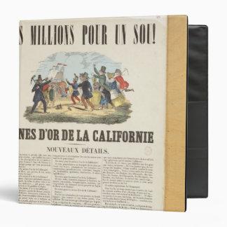 Publicidad de poster las minas de oro en Californi