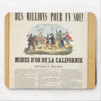 Publicidad de poster las minas de oro en Californi Alfombrilla De Raton