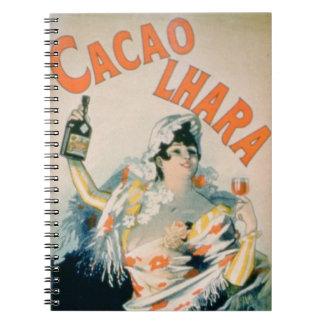 Publicidad de poster Lhara Creme de Cacao Digon Libretas