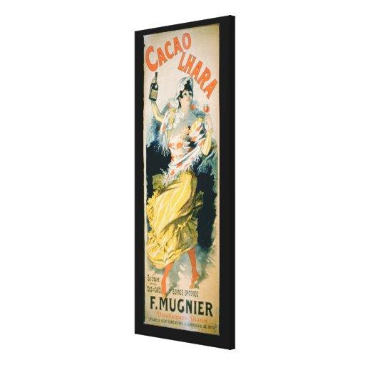 """Publicidad de poster """"Lhara Creme de Cacao"""", Digon Lona Estirada Galerias"""