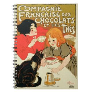 Publicidad de poster los French Company del chocol Cuadernos