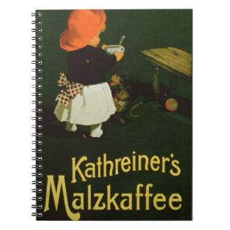 Publicidad de poster para la malta Coffee de Kath Libro De Apuntes