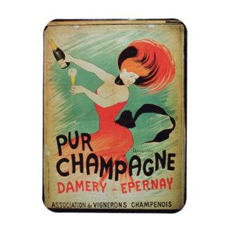 Publicidad de poster Pur Champán de Damery E Imanes De Vinilo