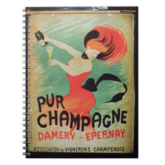 Publicidad de poster Pur Champán de Damery E Cuaderno