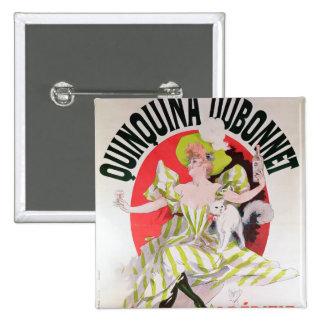 Publicidad de poster Quinquina Dubonnet Pin Cuadrado