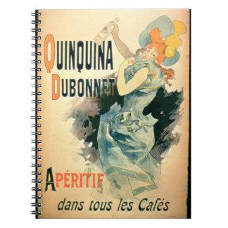 Publicidad de poster Quinquina por Dubonnet col Libro De Apuntes