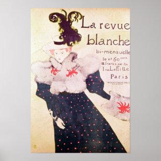 """Publicidad de poster """"revista Blanche del La"""", 189"""