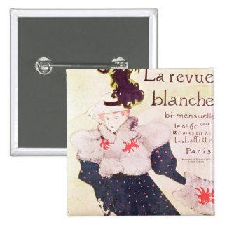 """Publicidad de poster """"revista Blanche del La"""", 189 Pin Cuadrada 5 Cm"""