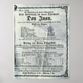 Publicidad de poster un funcionamiento de 'Don Jua