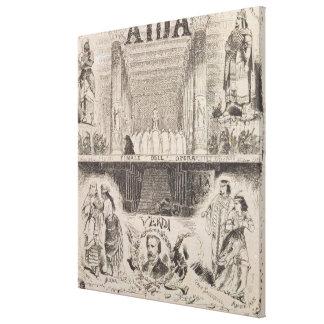 Publicidad de poster un funcionamiento impresión en lienzo estirada