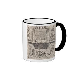 Publicidad de poster un funcionamiento tazas de café