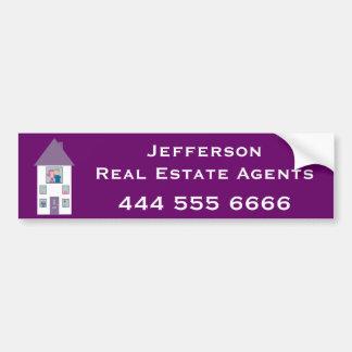 Publicidad del agente inmobiliario pegatina para auto