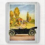 Publicidad del automóvil del vintage alfombrilla de ratón