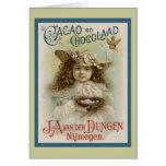 Publicidad del chocolate del vintage felicitación