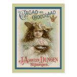 Publicidad del chocolate del vintage postal