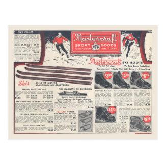 Publicidad del equipo de deportes de invierno del  postales