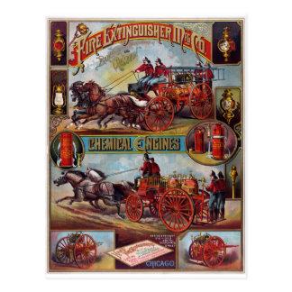 Publicidad del extintor del vintage tarjeta postal