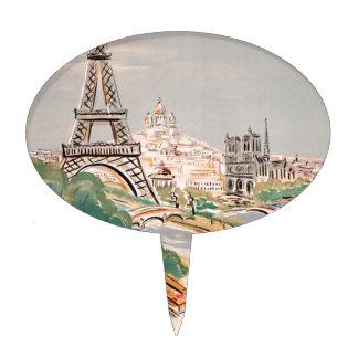 Publicidad del transporte aéreo de París de la Figuras De Tarta