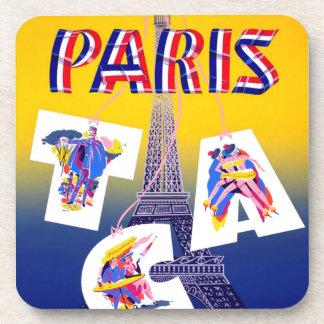 Publicidad del transporte aéreo de París de la Posavasos
