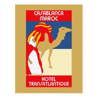 Publicidad del viaje de Casablanca de los años 20 Tarjeta Postal