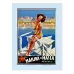 Publicidad del viaje de Vintage Marina di Massa Tarjetas Postales