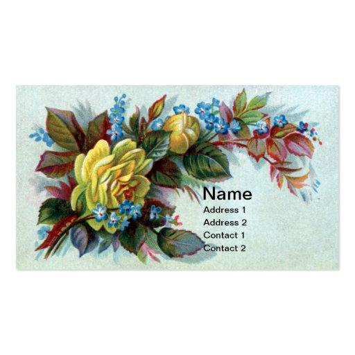 Publicidad del Victorian del rosa amarillo y del b Tarjetas De Visita