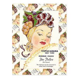 Publicidad del vintage, Copacabana, Nueva York Postal