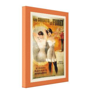 Publicidad del vintage corests le Furet de Les Lona Envuelta Para Galerias