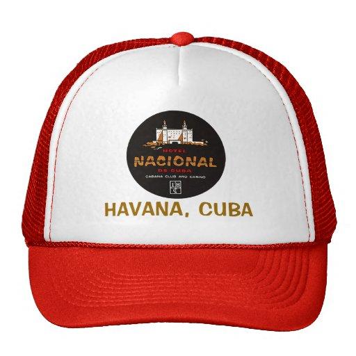 PUBLICIDAD DEL VINTAGE DE LA HABANA CUBA DEL HOTEL GORRO