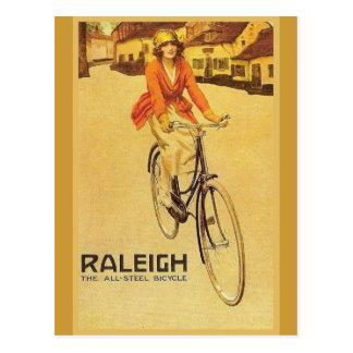 Publicidad del vintage de la reproducción, bicicle postal