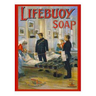 Publicidad del vintage de la reproducción, jabón d tarjetas postales