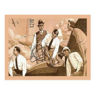 Publicidad del vintage de la reproducción, transpo tarjeta postal