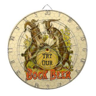 Publicidad del vintage de las cabras de la cerveza tablero dardos