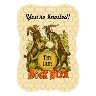 Publicidad del vintage de las cabras de la cerveza invitación 12,7 x 17,8 cm