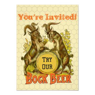 """Publicidad del vintage de las cabras de la cerveza invitación 4.5"""" x 6.25"""""""