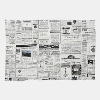 Publicidad del vintage de una revista toalla de mano