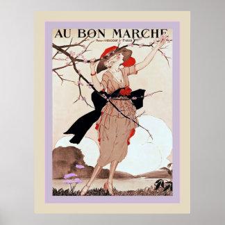 Publicidad del vintage del ~ de Bon Marché del Au Impresiones