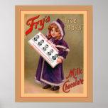 Publicidad del vintage del ~ del chocolate con lec impresiones
