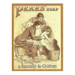 Publicidad del vintage, jabón de las peras postales