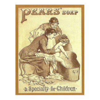 Publicidad del vintage, jabón de las peras tarjetas postales