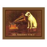 Publicidad del vintage, la voz de su amo, tarjeta postal