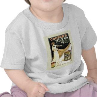 Publicidad del vintage, líquido del aceite de la l camisetas