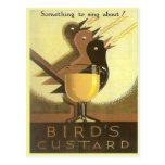 Publicidad del vintage, natillas tarjeta postal